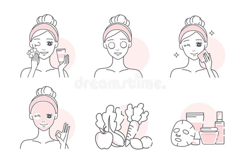 Kobieta z naturaln? twarzow? mask? zdjęcie stock
