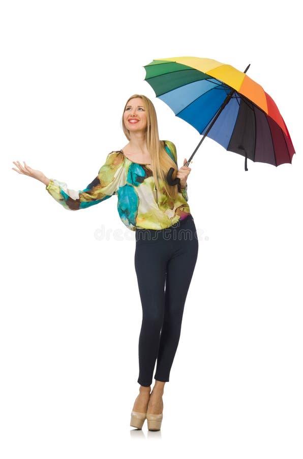 Kobieta z parasolem zdjęcie royalty free