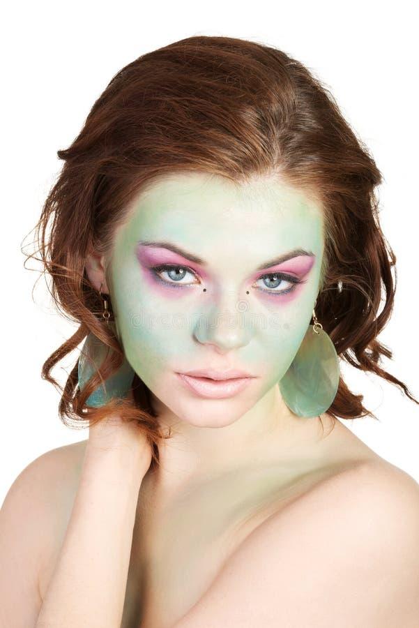 Kobieta z sztuka makijażem obraz royalty free