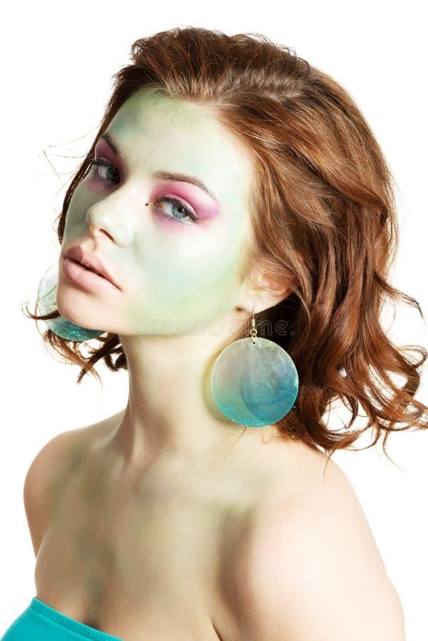 Kobieta z sztuka makijażem obrazy stock