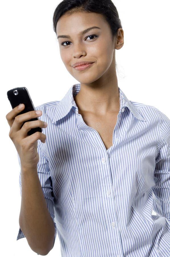 Kobieta Z Telefonem obrazy stock