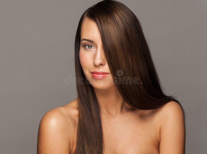 Kobieta z Zdrowy Długie Włosy fotografia stock