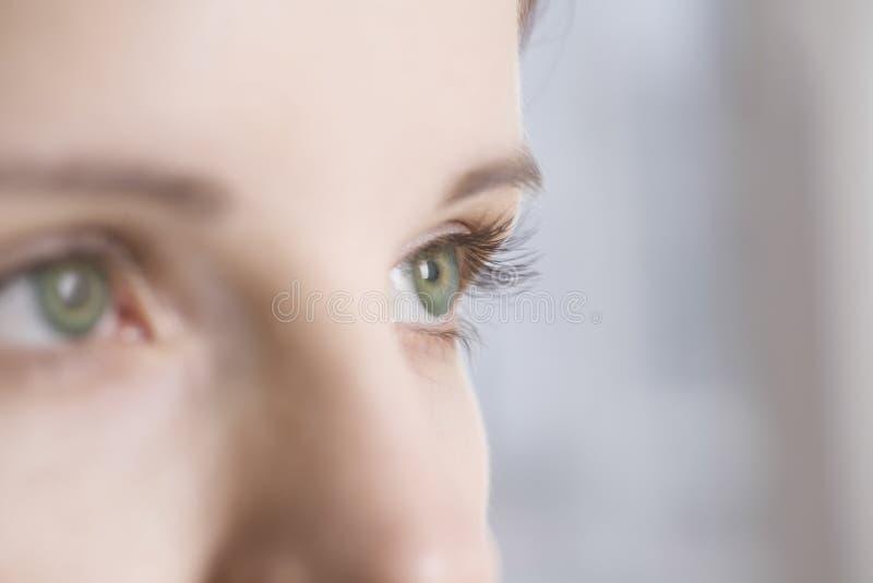 Kobieta Z Zielonymi oczami obrazy royalty free