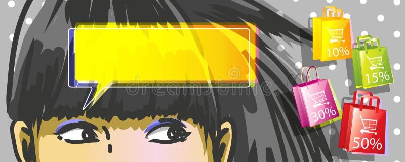 Download Kobieta zakupy ilustracja wektor. Obraz złożonej z ilustracje - 28986933
