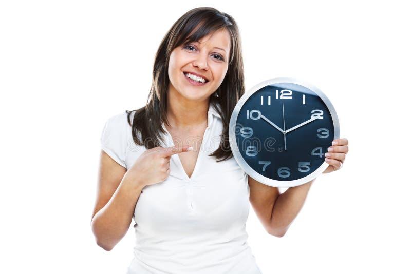 kobieta zegara zdjęcie stock