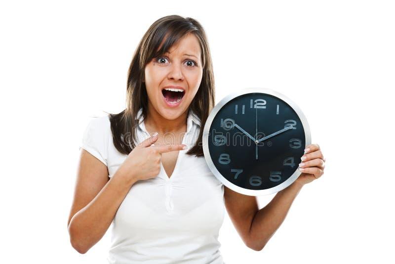 kobieta zegara obraz royalty free