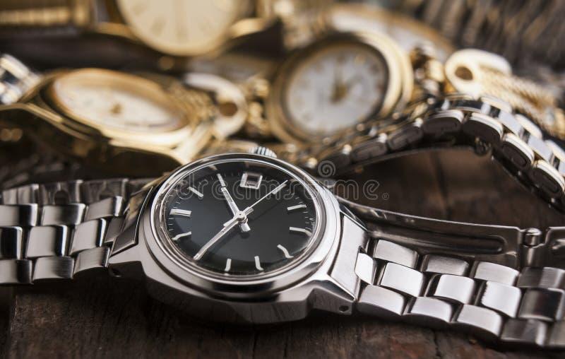 Kobieta zegarki obrazy royalty free