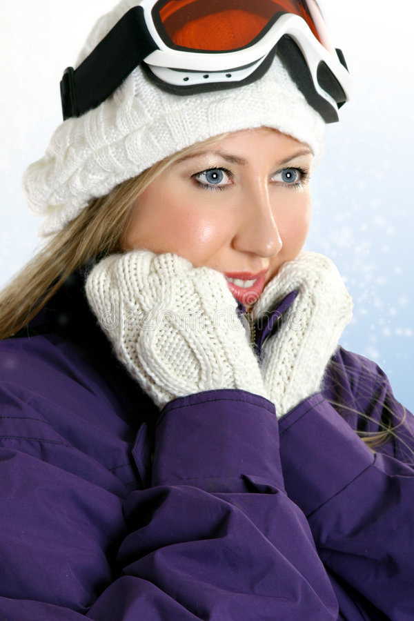 kobieta zimy zdjęcie stock