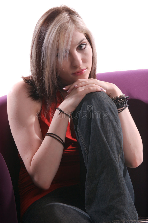 kobieta zrelaksowana zdjęcia stock