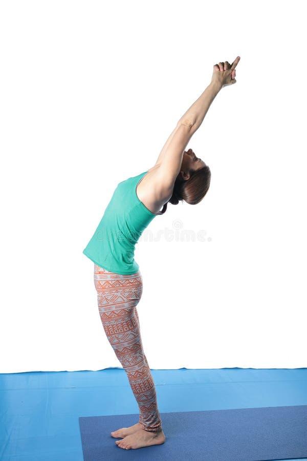 Kobiety ćwiczy joga na podłoga obraz royalty free