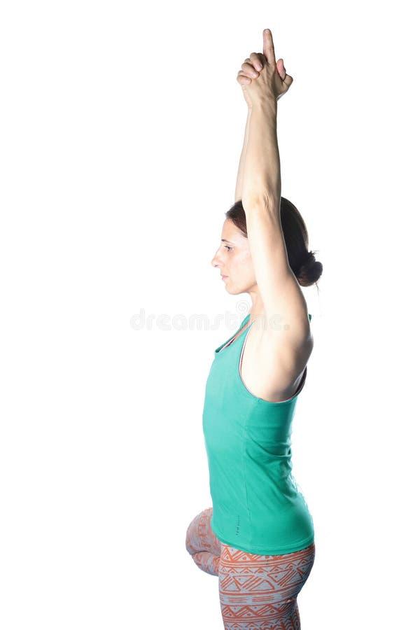 Kobiety ćwiczy joga na podłoga zdjęcia stock