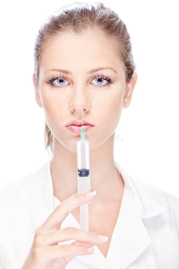Kobiety ładna lekarka obraz stock