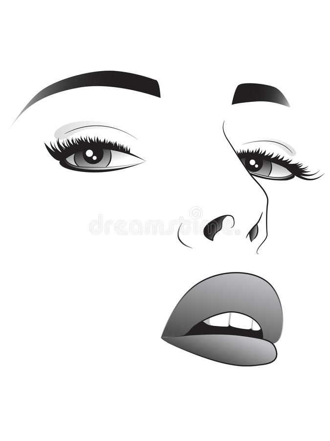 Kobiety ładna twarz royalty ilustracja