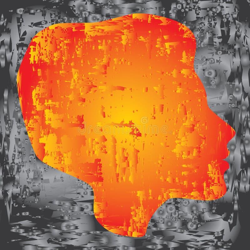 Download Kobiety ilustracja wektor. Ilustracja złożonej z migreny - 13332460