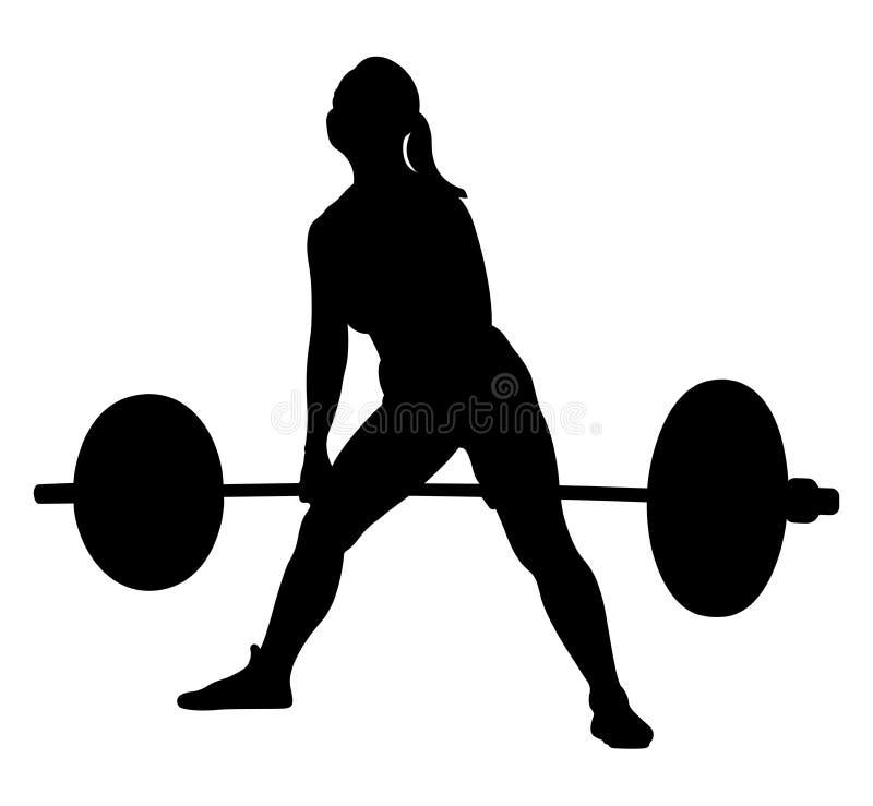 Kobiety atlety powerlifter royalty ilustracja