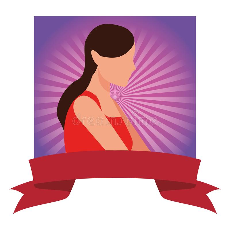 Kobiety avatar portret ilustracji