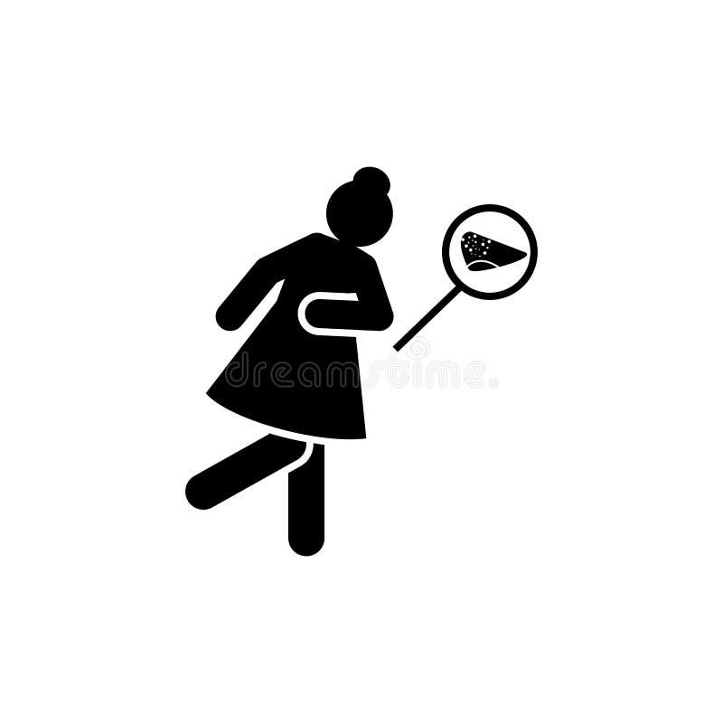 Kobiety, ból, wątróbka, nowotwór ikona Element w?trobowego nowotworu ikona Premii ilo?ci graficznego projekta ikona znaki i symbo ilustracja wektor