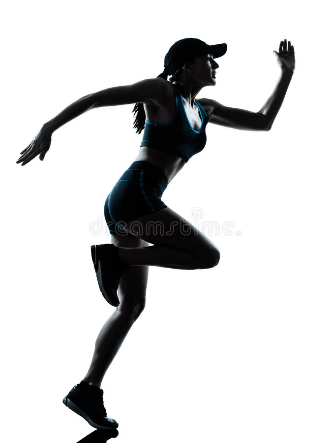 Kobiety biegacza jogger obraz royalty free
