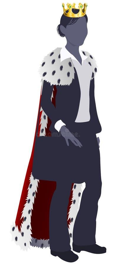 Kobiety biznesowa królowa ilustracja wektor