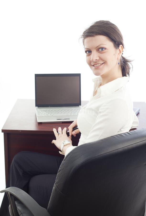 kobiety biznesowy uśmiechnięty działanie obrazy stock
