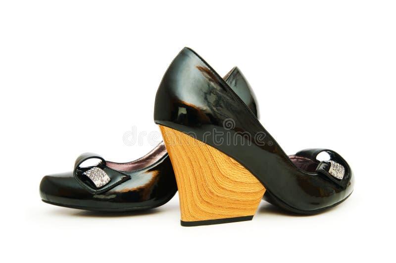 Download Kobiety Buty Odizolowywający Na Biel Zdjęcie Stock - Obraz złożonej z para, szpilka: 13334840
