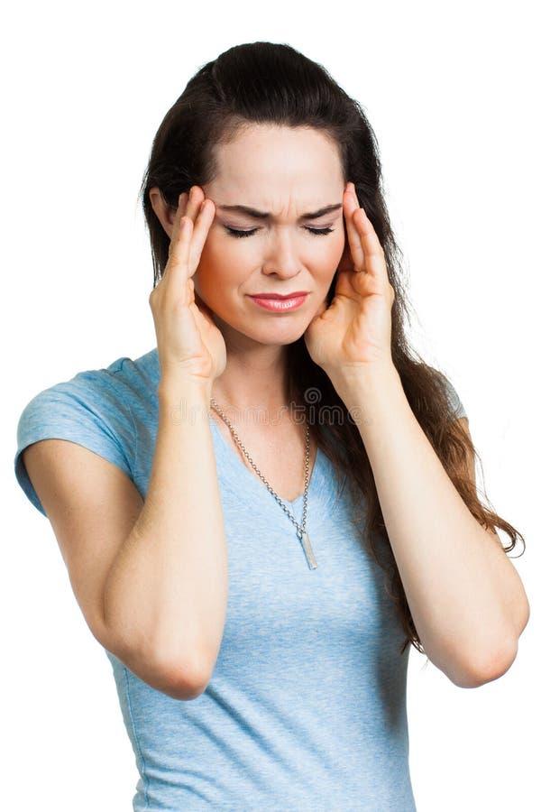 Kobiety cierpienie od migreny. obraz royalty free