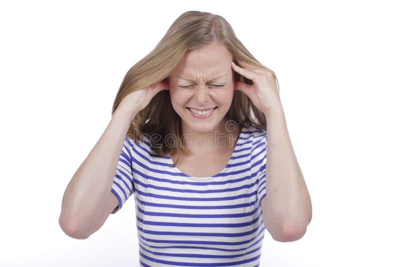 Kobiety cierpienie od migreny obrazy stock