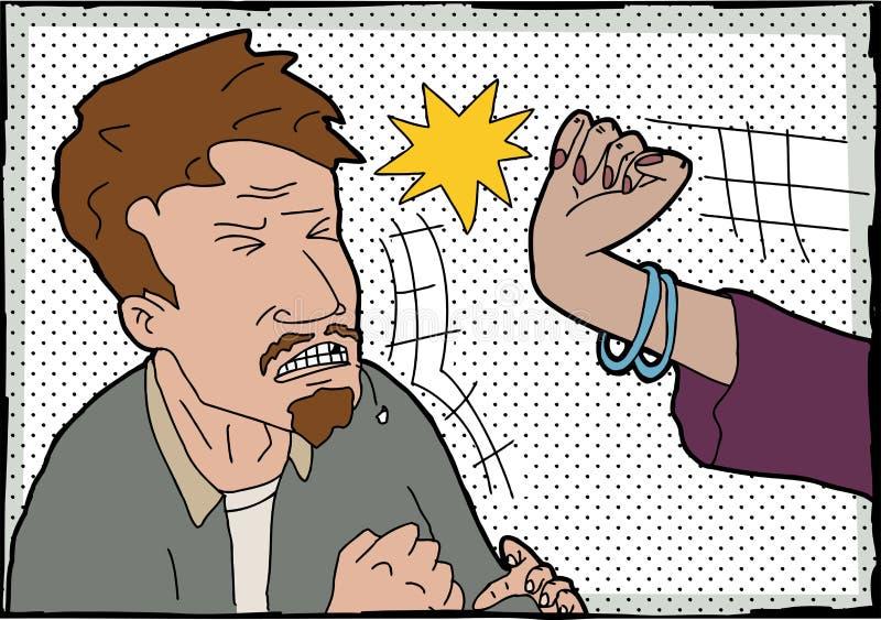 Kobiety ciupnięcia mężczyzna ilustracja wektor