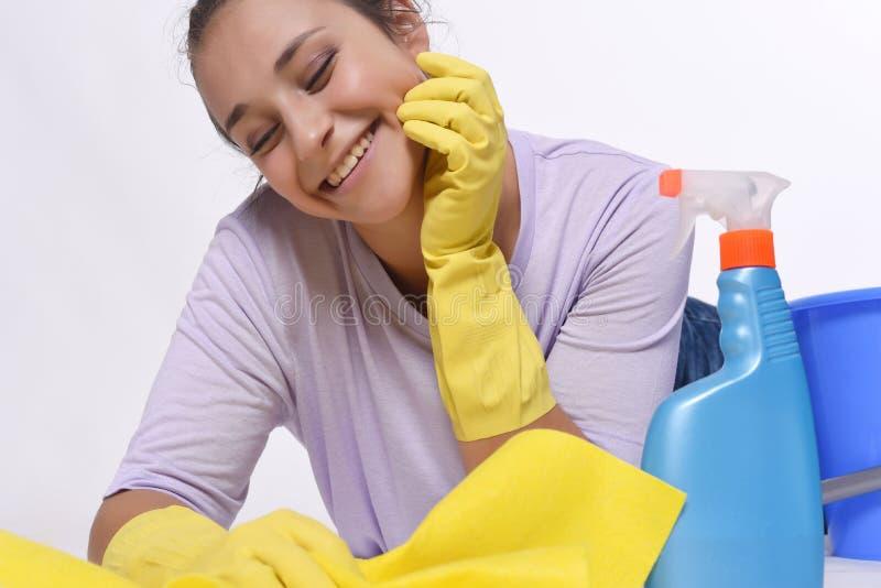 Kobiety cleaning zdjęcia stock