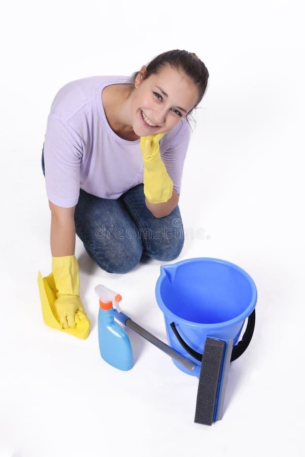 Kobiety cleaning zdjęcie stock