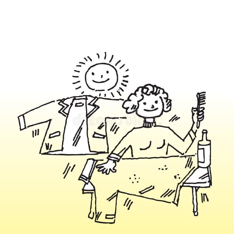 Kobiety cleaning odziewa ilustracji