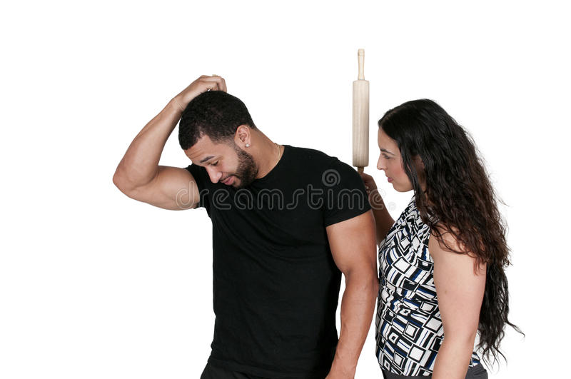 Kobiety cyzelatorstwa mężczyzna z Toczną szpilką zdjęcie royalty free