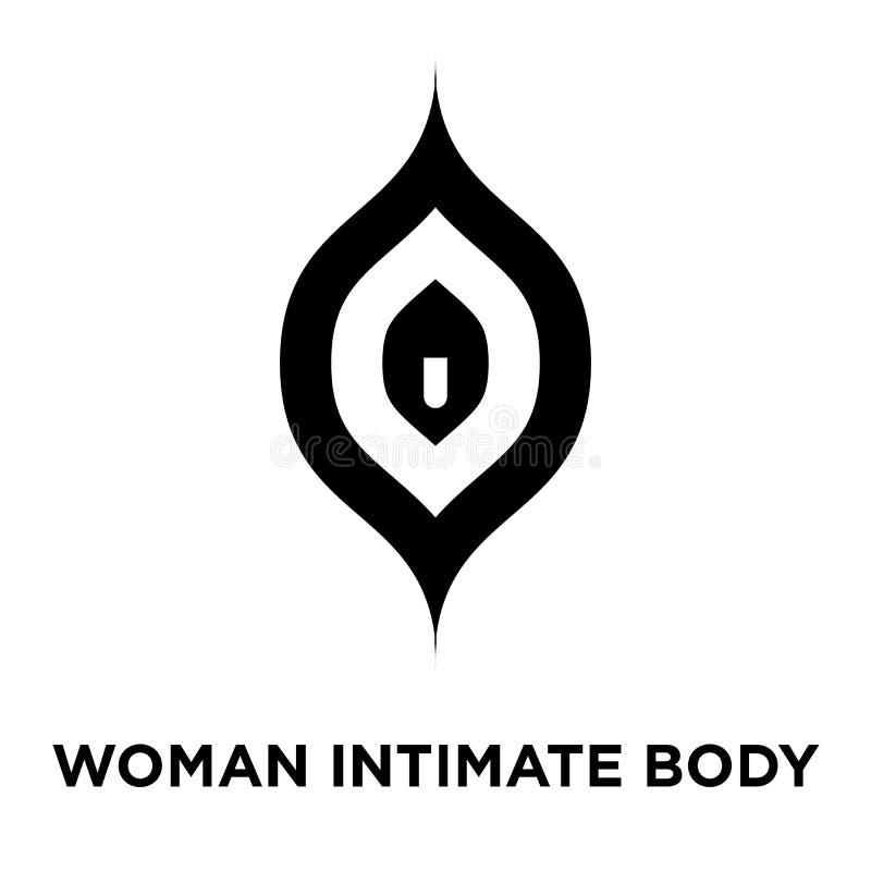 Kobiety części ciała ikony intymny wektor odizolowywający na białym backgroun ilustracja wektor