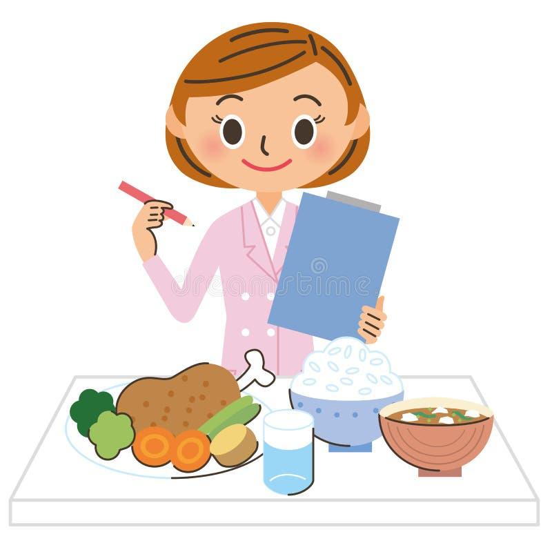 Kobiety dietician ilustracji