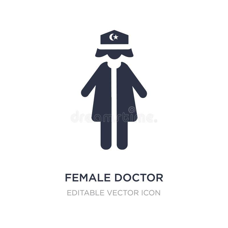 kobiety doktorska ikona na białym tle Prosta element ilustracja od ludzi pojęć ilustracja wektor
