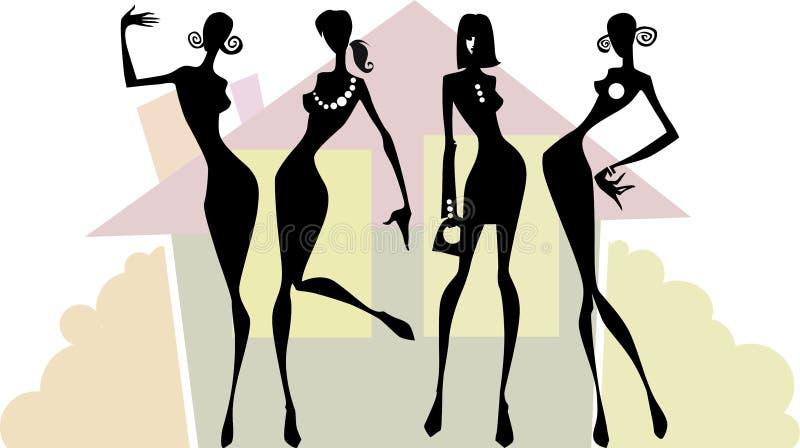 Kobiety drużyna royalty ilustracja
