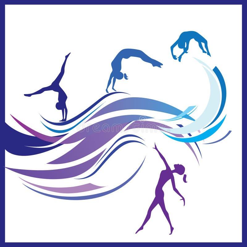 Kobiety gimnastyk wektor ilustracji