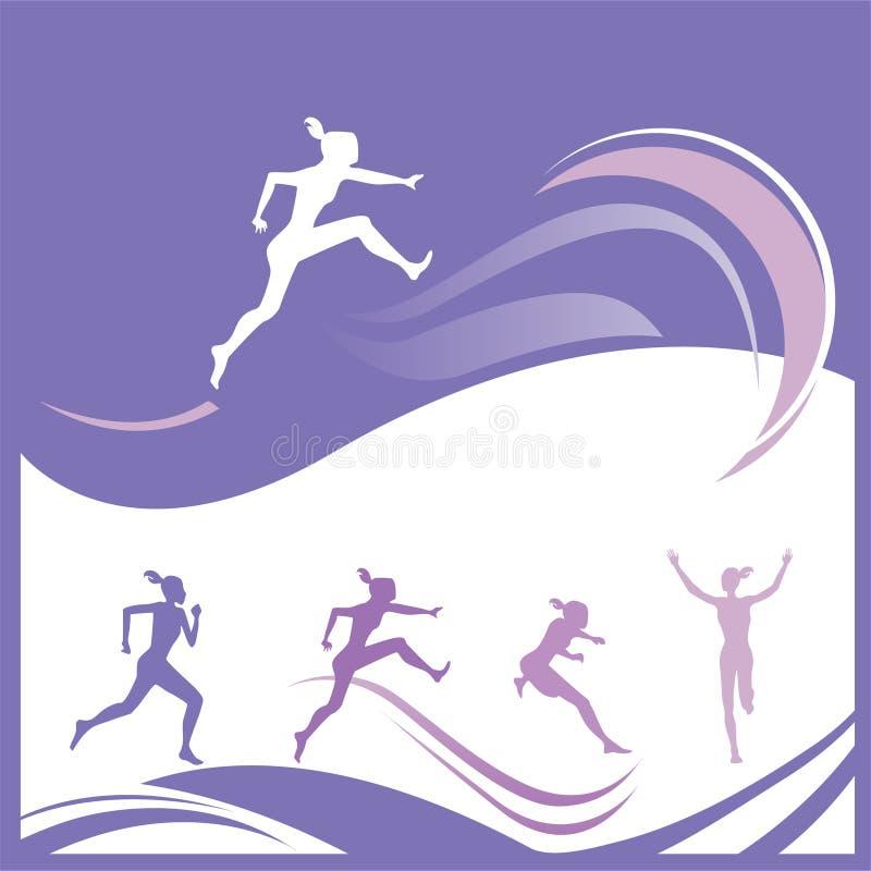 Kobiety gimnastyk wektor ilustracja wektor