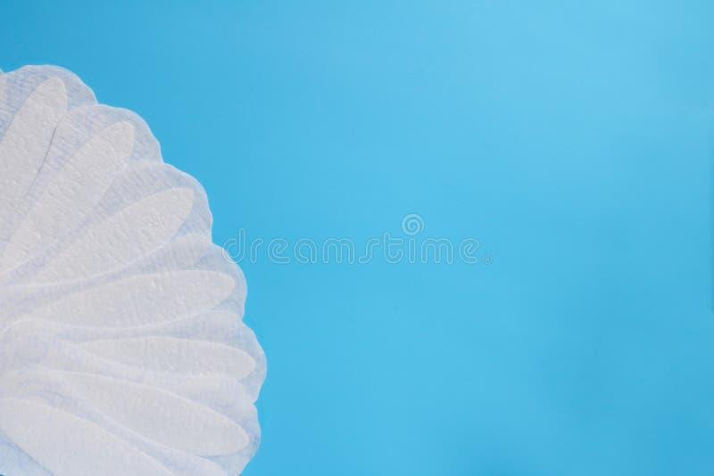 Kobiety higieny produkty, dzienni sanitarni ochraniacze, przestrzeń dla teksta, czystość i świeżość, kobiety zdrowie, gynecology obrazy stock