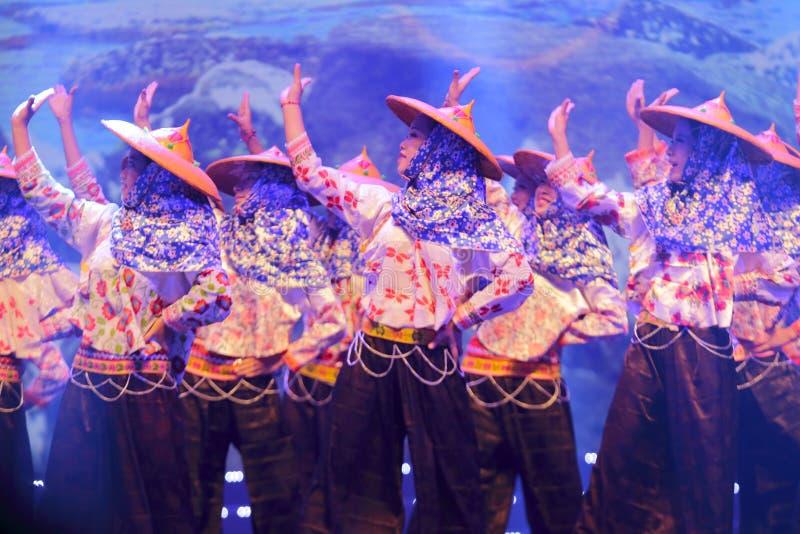 Kobiety Huian okręgu administracyjnego taniec fotografia royalty free