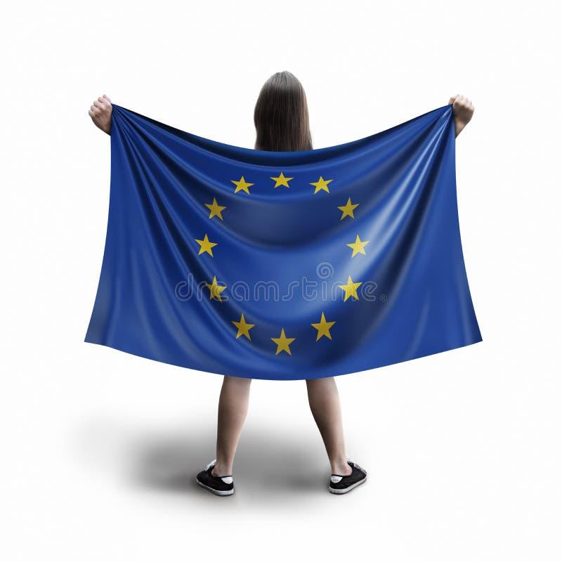 Kobiety i Europejska zrzeszeniowa flaga fotografia stock