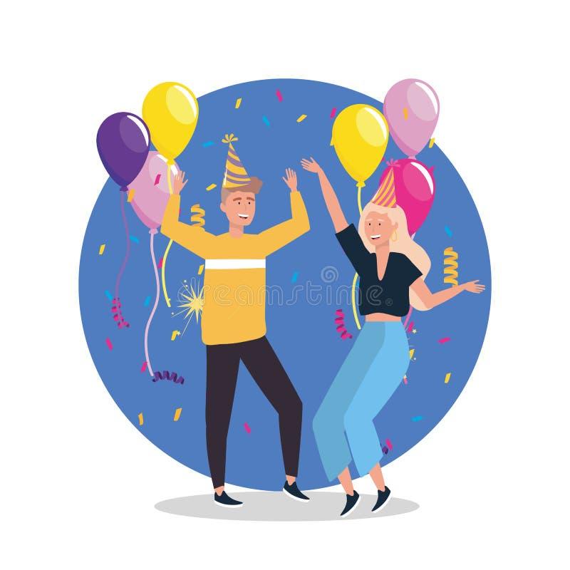 Kobiety i mężczyzny taniec z ilustracji