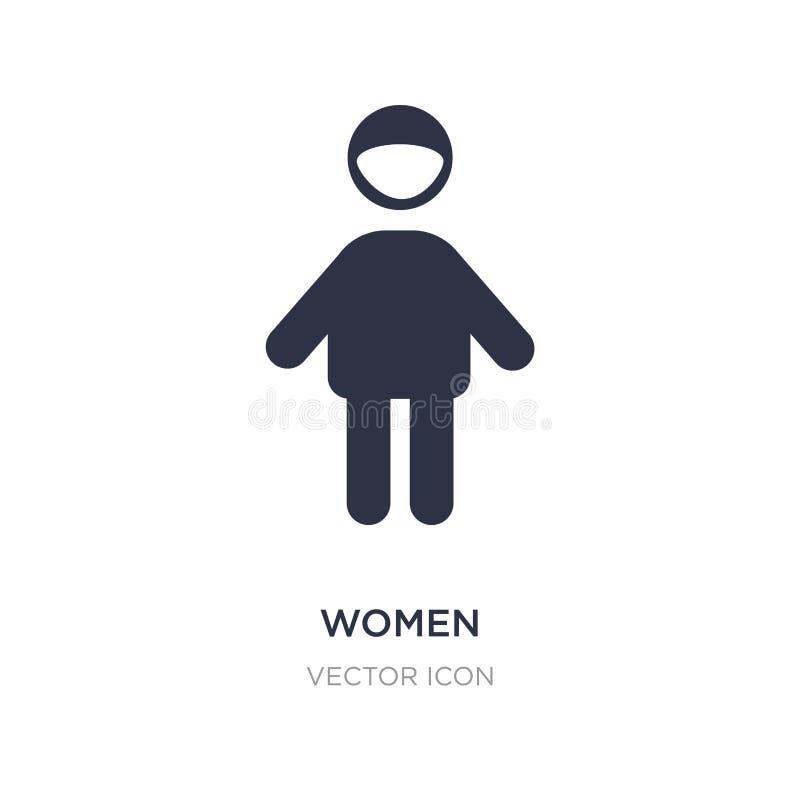 kobiety ikona na białym tle Prosta element ilustracja od ludzi pojęć ilustracja wektor
