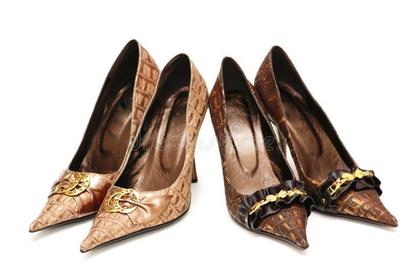 kobiety isol par butów 2 obraz stock