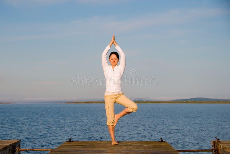 kobiety joga zdjęcie royalty free