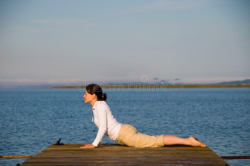 kobiety joga zdjęcie stock