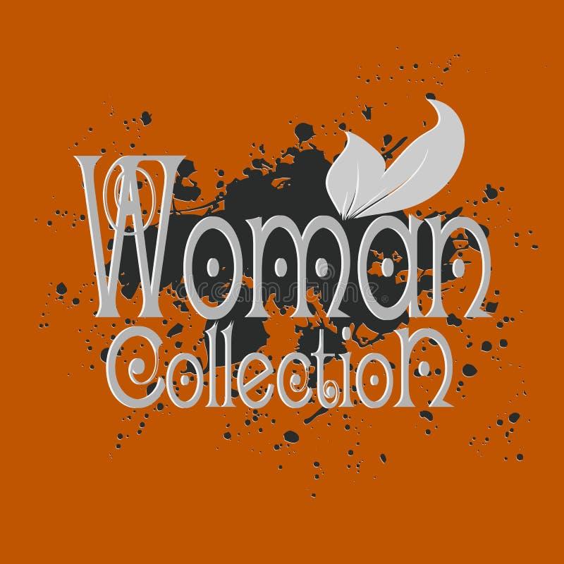 Kobiety kolekcja Dekoracyjny inspiracion 3d literowanie Nowożytny sp ilustracji