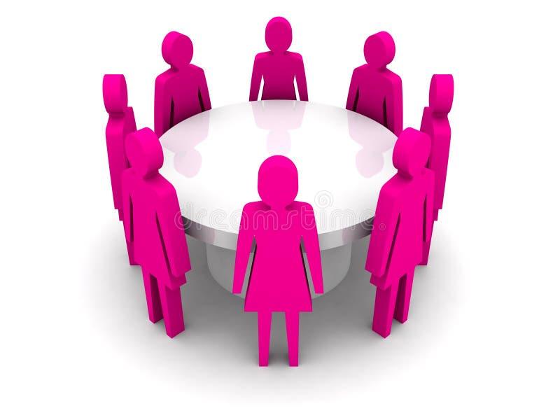Kobiety konferencyjne. ilustracja wektor