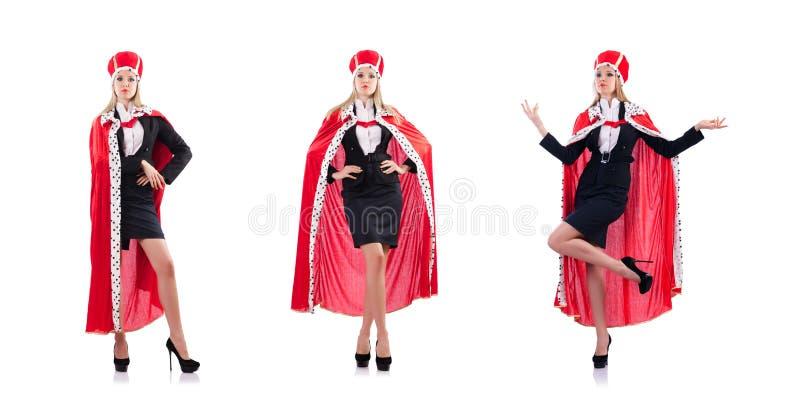 Kobiety królowa w śmiesznym pojęciu obraz royalty free