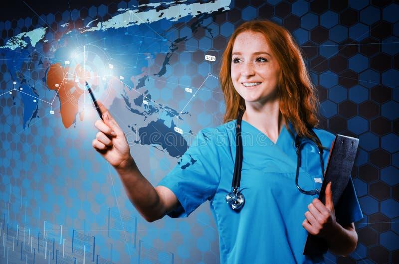 Kobiety lekarka w medivac pojęciu zdjęcia royalty free